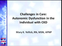 Challenges in Care: Autonomic Dysfunction Management in the Individual with CKD