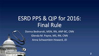 Implications of CMS Final Rule on the ESRD Prospective Payment System and Quality Incentive Program
