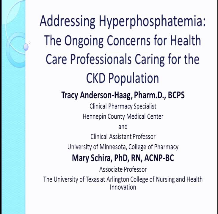 addressing hyperphosphatemia the ongoing concerns for health care