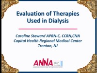 Issues in Acute Care - Evaluation of Therapies Used in Dialysis