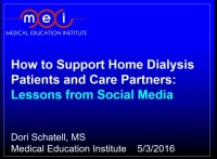 How to Support Home Dialysis Patients and Care Partners to Avoid Dropout: Lessons from Social Media
