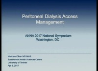 Peritoneal Dialysis Access Management