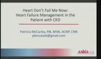 Heart Don't Fail Me Now: Heart Failure Management in the CKD Patient